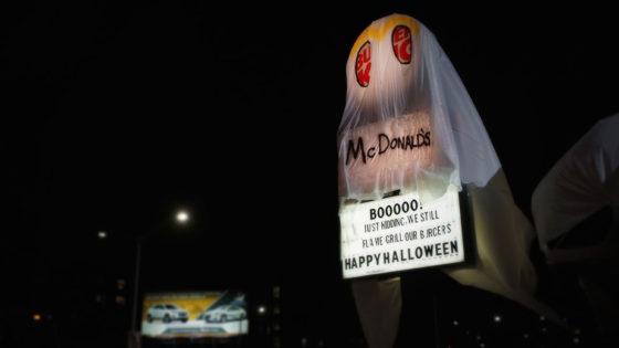 Burger King becomes McDonald's ghost for Halloween ...